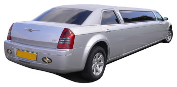Chauffeur driven silver Chrysler 300 stretched limousine - School Proms, Birthdays, Anniversaries in Wolverhampton and beyond.